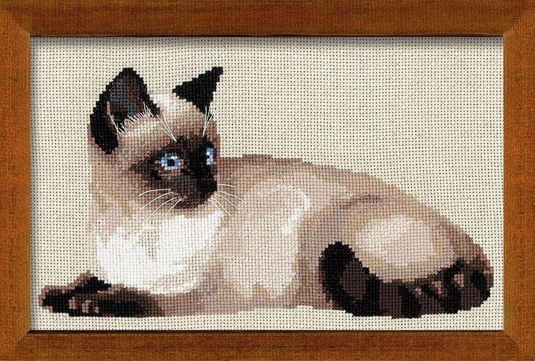Вышивка с кошками фото 21