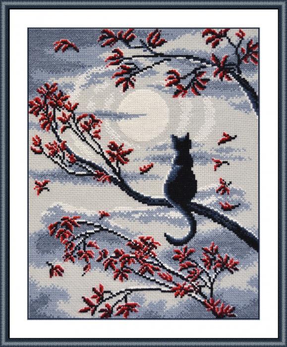 Наборы для вышивания лунный кот